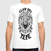 Clan Del Pepe Mens Fitted Tee White SMALL