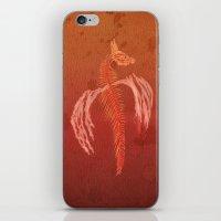 Dragon in red iPhone & iPod Skin