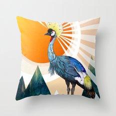 Crowned Crane Throw Pillow