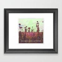 The Weeds Framed Art Print