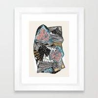 Cosmic geology Framed Art Print