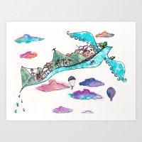 Flying Rio De Janeiro Art Print