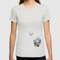 Alaska From Above Womens Fitted Tee Silver SMALL