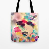 Abstract girl Tote Bag