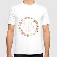 You Make My Heart Smile Mens Fitted Tee White SMALL