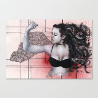 Strength in Red Canvas Print