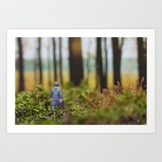 In Search of Bigfoot (Ode to Thoreau) Art Print