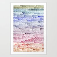 painted waterfall Art Print