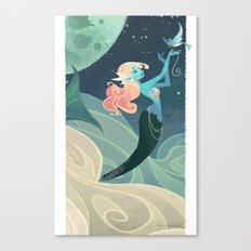 Sky Mermaid Canvas Print