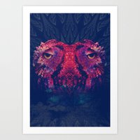 OWLS - Psychedelic | Art | Movement | Pop Art | Abstract | Animals | 70's | Trip  Art Print