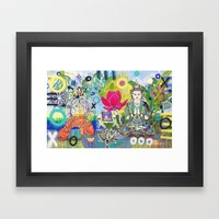 Green Tara In Paradise Framed Art Print