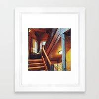 Cabin Staircase Framed Art Print