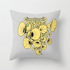 Gramophone DJ Throw Pillow