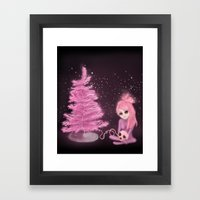 Intercosmic Christmas in Pink Framed Art Print