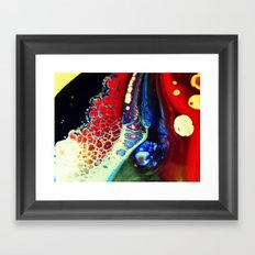 Stained Walls Framed Art Print