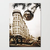 Christmas downtown Canvas Print