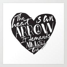 Heart is an Arrow - Six of Crows design Art Print