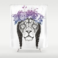 King of lions Shower Curtain