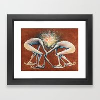 The Conjoined Collision … Framed Art Print