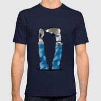 Reverse_white bg Mens Fitted Tee Navy SMALL
