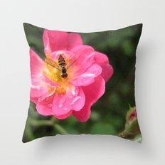 Flower Bee Throw Pillow