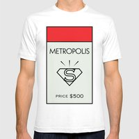 Metropolis Monopoly Loca… Mens Fitted Tee White SMALL
