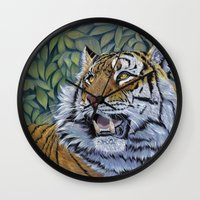 Tiger 807 Wall Clock