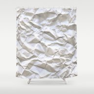 Shower Curtain featuring White Trash by Pixel404