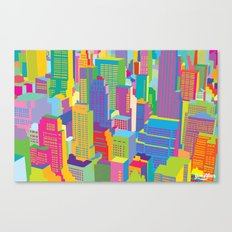 Cityscape windows Canvas Print