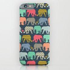baby elephants and flamingos Slim Case iPhone 6s
