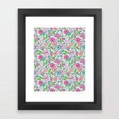 Sweetheart Aqua Framed Art Print
