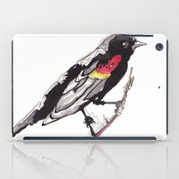 Red Winged Black Bird iPad Case