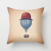 Globo Ocular Throw Pillow