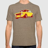 Fiat 128 Mens Fitted Tee Tri-Coffee SMALL