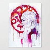 Daenerys Targaryen - Gam… Canvas Print