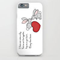 iPhone & iPod Case featuring Snuggle Bunnies by Fiona Bewsey