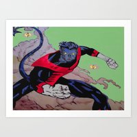The Amazing Nightcrawler Art Print