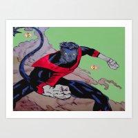 The Amazing Nightcrawler Art Print