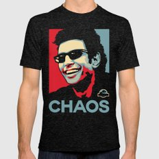 'Chaos' Ian Malcolm (Jurassic Park) Mens Fitted Tee Tri-Black SMALL