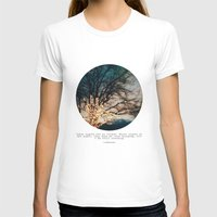 lights T-shirts featuring White Lights by Tina Crespo
