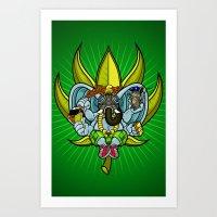 Ever seen an elephant (so) fly? Art Print