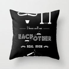 Dear M. Throw Pillow