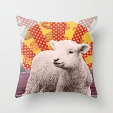 Baa Baa Beach Sheep... Throw Pillow