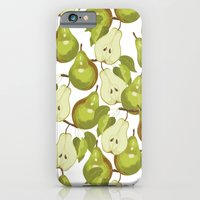 iPhone & iPod Case featuring Pears Pattern by Marlene Pixley