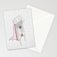 Robot superhero II Stationery Cards