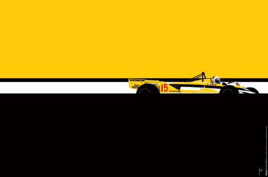 Alain Prost, Renault RE30, 1981 Art Print