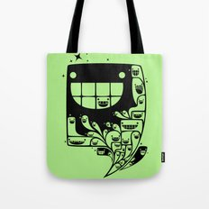 Happy Inside - 1-Bit Oddity - Black Version Tote Bag