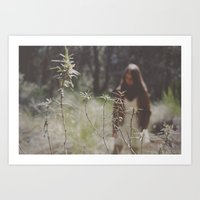 lost in woodland Art Print
