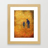 Fallen Love Framed Art Print