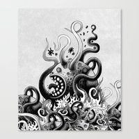 Dark Octoworm Canvas Print
